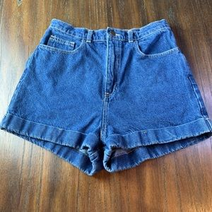 AMERICAN APPAREL high waisted denim jeans shorts